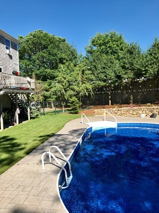 West Barnstable Cape Cod vacation rental - Pool view from Yard