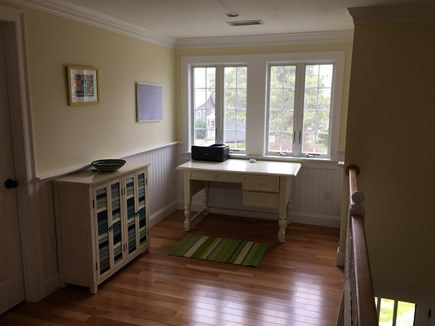 Chatham (Ridgevale) Cape Cod vacation rental - Office area overlooking the stairs.
