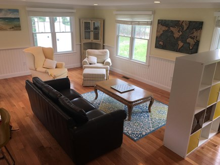 Chatham (Ridgevale) Cape Cod vacation rental - The living room, bright and sunny open floor plan.