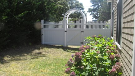 Chatham (Ridgevale) Cape Cod vacation rental - The fenced-in side yard