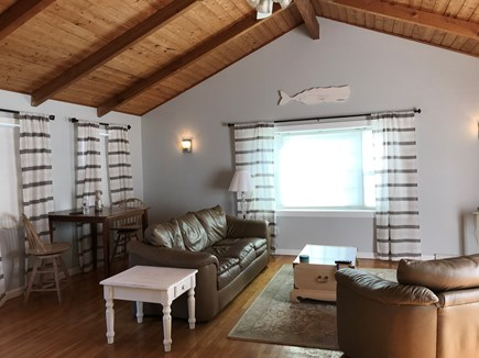 Yarmouth Port Cape Cod vacation rental - Living room with 2 high top barstools