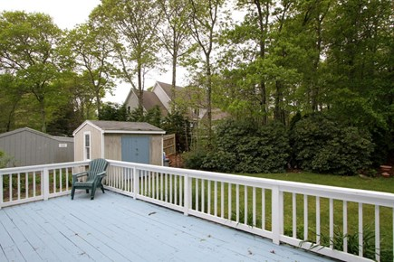 Mashpee, Popponesset Cape Cod vacation rental - Deck overlooking the yard