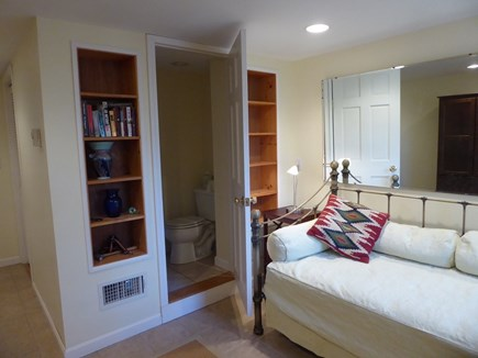 North Eastham Cape Cod vacation rental - First floor twin guest bedroom with half bath.