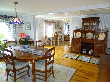 West Yarmouth Cape Cod vacation rental - Lovely dining area, showing entrance to kitchen