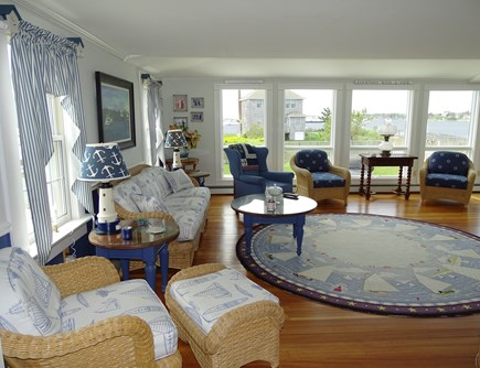 West Yarmouth Cape Cod vacation rental - Large living room with water views...watch the boats