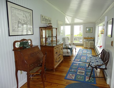 West Yarmouth Cape Cod vacation rental - Sitting area, adjacent to living room, with water views