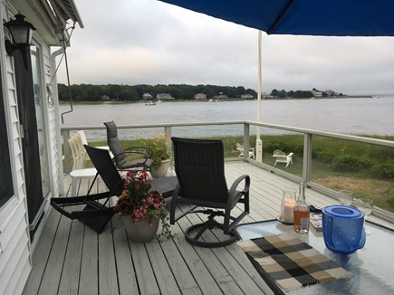 Marion MA vacation rental - Deck Awning and Umbrella