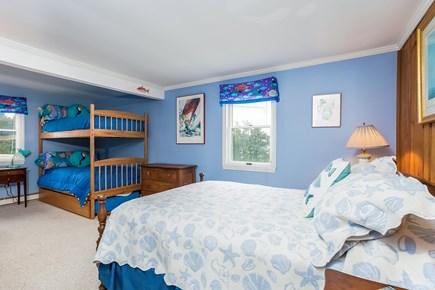 Marion MA vacation rental - Second Bedroom; Queen, and bunks