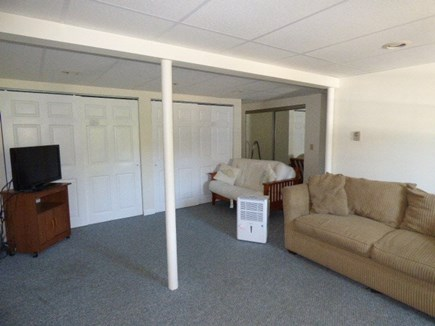 Dennis Cape Cod vacation rental - Lower level with Queen size Pull out coach and TV and Full Bath