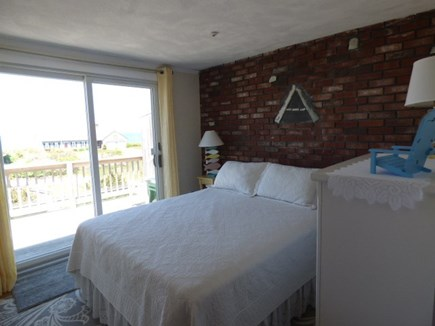 Dennis Cape Cod vacation rental - 3rd Bedroom on 2nd floor with queen bed and Slider to Balcony