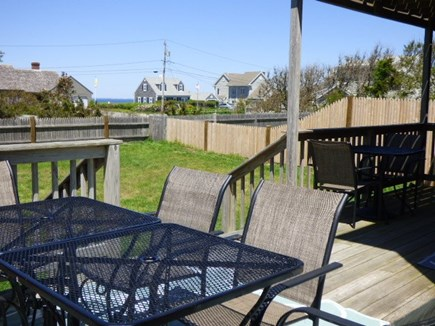 Dennis Cape Cod vacation rental - Back Deck with privacy fence