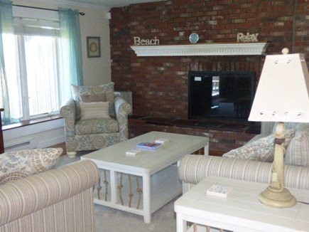 Dennis Cape Cod vacation rental - Living room new furniture and refinished hardwood floors