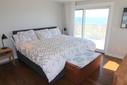 Truro Cape Cod vacation rental - Master Bedroom - King Bed With Ocean View and Slider