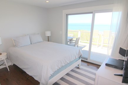 Truro Cape Cod vacation rental - Bedroom Two - Queen Bed With Ocean View and Slider