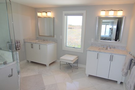 Truro Cape Cod vacation rental - Luxurious Ensuite Bathroom With Duluxe  Shower