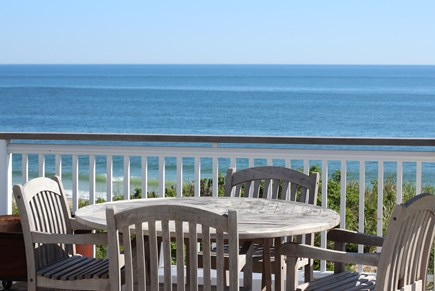 Truro Cape Cod vacation rental - Seating Area on Lower Wrap Around Deck With Panoramic Ocean View