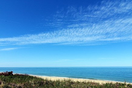 Truro Cape Cod vacation rental - View From Lower Deck Viewing Towards Coast Guard Beach