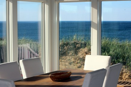 Truro Cape Cod vacation rental - Bright Cheery Dining Area With Spectacular Views
