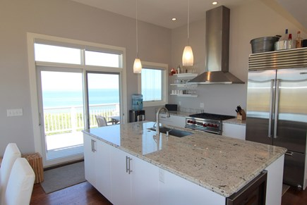 Truro Cape Cod vacation rental - Chef's Kitchen With Upscale Appliances and Wine Cooler