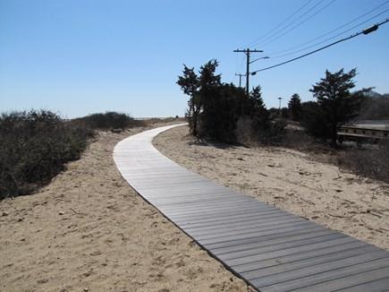 Hyannis Cape Cod vacation rental - Sea Street Beach walkway to Hyannisport, past osprey nests
