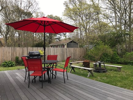 W Yarmouth Cape Cod vacation rental - Deck and back yard