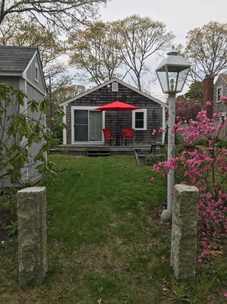 W Yarmouth Cape Cod vacation rental - Back yard walkway to Swan pond Beach