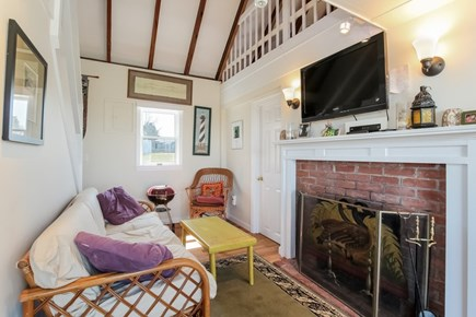 Barnstable, Cummaquid Cape Cod vacation rental - Sitting Area with TV and fireplace