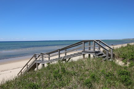 Truro Cape Cod vacation rental - Well-constructed beach stairs