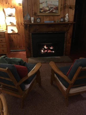 Truro Cape Cod vacation rental - Gas Fireplace for those Chilly Nights