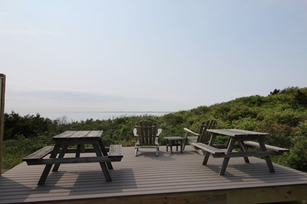 Truro Cape Cod vacation rental - Deck with Picnic Tables