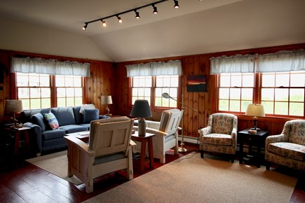 Truro Cape Cod vacation rental - Living Room overlooking the Bay