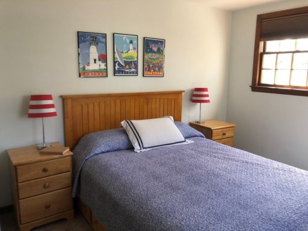 Chatham (Ridgevale Beach area) Cape Cod vacation rental - Bedroom with Queen bed (upstairs); this BR has a TV