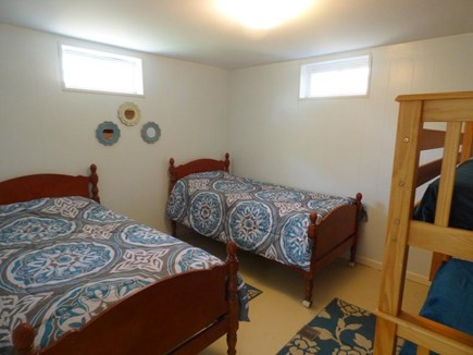Chatham (Ridgevale Beach area) Cape Cod vacation rental - Lower level bedroom (2 x twins plus bunk bed)