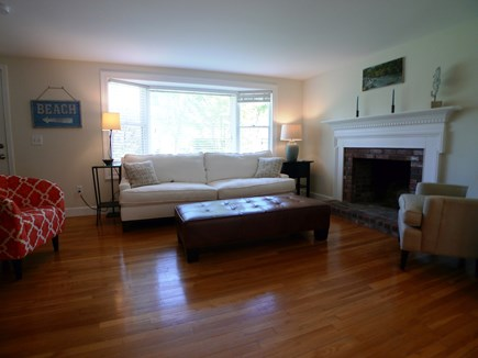 Harwich Cape Cod vacation rental - Living room with hardwood floors