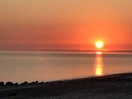 East Sandwich Cape Cod vacation rental - Sunrise on our beach