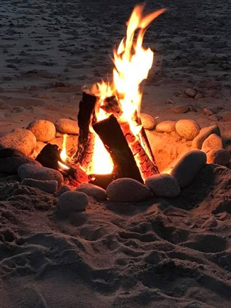 East Sandwich Cape Cod vacation rental - Campfires are allowed on the beach, follow safety rules.