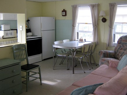 East Sandwich Cape Cod vacation rental - Living/dining area with partial view of kitchen