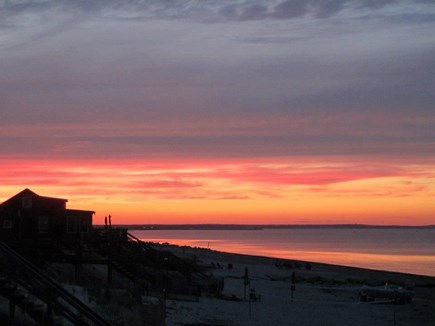 East Sandwich Cape Cod vacation rental - Gorgeous sunsets on our beach.