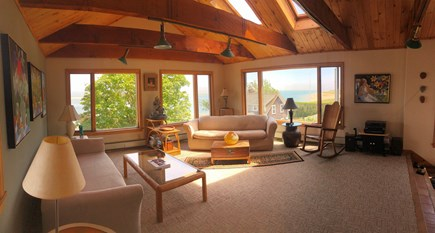 Chatham Cape Cod vacation rental - Upstairs Suite Living Room with Panoramic Ocean Views