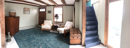 Chatham Cape Cod vacation rental - Sitting Room with Antique Stairs to Loft