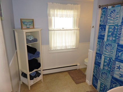 Eastham Cape Cod vacation rental - Spacious bathroom with tub and shower.