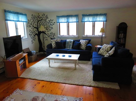 Eastham Cape Cod vacation rental - Comfortable living room with 50 inch flat screen smart tv.