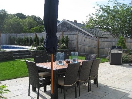 Provincetown Cape Cod vacation rental - Backyard patio and grill