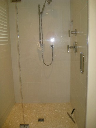 Provincetown Cape Cod vacation rental - The main floor shower is huge with rainshower and regular heads