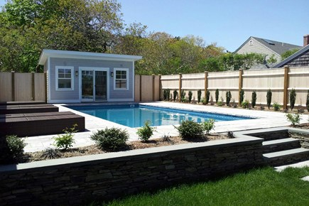Provincetown Cape Cod vacation rental - Backyard and the pool