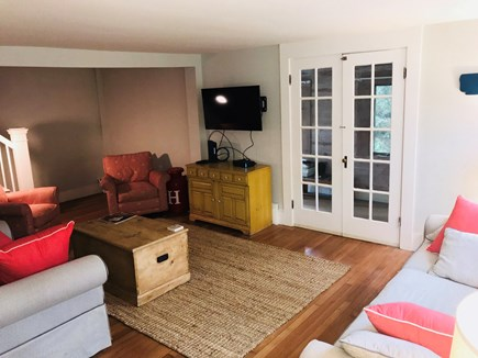 Harwichport Cape Cod vacation rental - Living room leading to porch