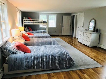 Harwichport Cape Cod vacation rental - Bunk room with 3 twins and bunk beds