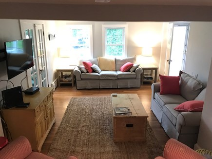 Harwichport Cape Cod vacation rental - Large living room with cable/WiFi