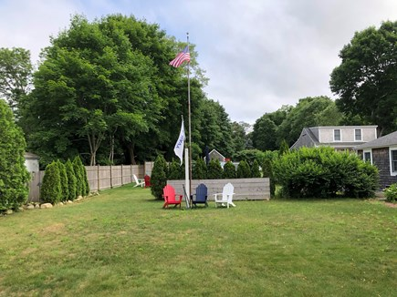 Yarmouth Port Cape Cod vacation rental - Front section of side yard