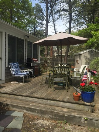 West Yarmouth Cape Cod vacation rental - Large, very private deck features a gas grill and dining table